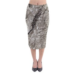 Tree Bark A Midi Pencil Skirt