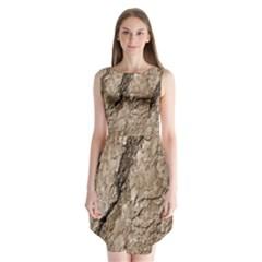 Tree Bark B Sleeveless Chiffon Dress