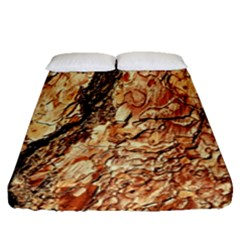 Tree Bark D Fitted Sheet (queen Size)