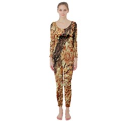 Tree Bark D Long Sleeve Catsuit