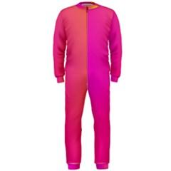 Pink Orange Yellow Ombre  Onepiece Jumpsuit (men)