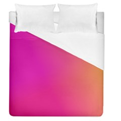 Pink Orange Yellow Ombre  Duvet Cover (queen Size)