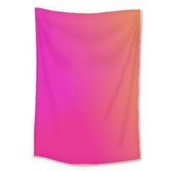Pink Orange Yellow Ombre  Large Tapestry