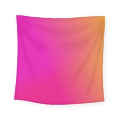 Pink Orange Yellow Ombre  Square Tapestry (small)