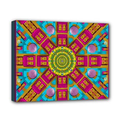 Sunny And Bohemian Sun Shines In Colors Canvas 10  X 8