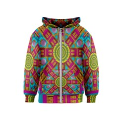 Sunny And Bohemian Sun Shines In Colors Kids  Zipper Hoodie