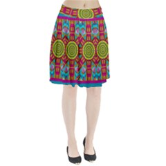 Sunny And Bohemian Sun Shines In Colors Pleated Skirt