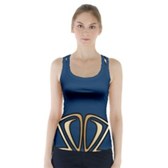 Art Nouveau,vintage,floral,belle ¨|poque,elegant,blue,gold,art Deco,modern,trendy Racer Back Sports Top