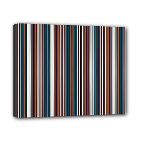 Pear Blossom Teal Orange Brown Coordinating Stripes  Canvas 10  X 8