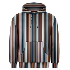 Pear Blossom Teal Orange Brown Coordinating Stripes  Men s Pullover Hoodie