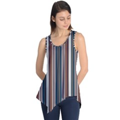 Pear Blossom Teal Orange Brown Coordinating Stripes  Sleeveless Tunic