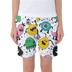 Cute And Fun Monsters Pattern Women s Basketball Shorts