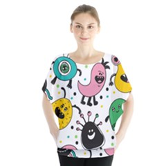 Cute And Fun Monsters Pattern Blouse