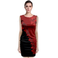 Canada Maple Leaf  Classic Sleeveless Midi Dress