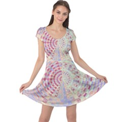 Gateway To Thelight Pattern  Cap Sleeve Dress