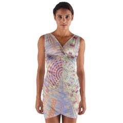 Gateway To Thelight Pattern  Wrap Front Bodycon Dress