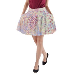 Gateway To Thelight Pattern  A Line Pocket Skirt