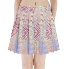 Gateway To Thelight Pattern  Pleated Mini Skirt