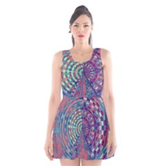 Gateway To Thelight Pattern 4 Scoop Neck Skater Dress