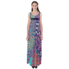 Gateway To Thelight Pattern 4 Empire Waist Maxi Dress