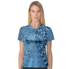 Gateway To Thelight Pattern 5 V Neck Sport Mesh Tee