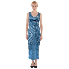 Gateway To Thelight Pattern 5 Fitted Maxi Dress