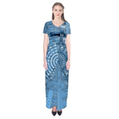 Gateway To Thelight Pattern 5 Short Sleeve Maxi Dress
