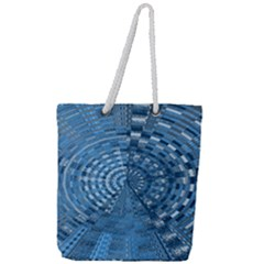 Gateway To Thelight Pattern 5 Full Print Rope Handle Tote (large)