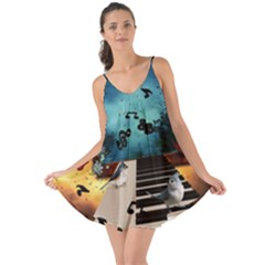 Music, Piano With Birds And Butterflies Love The Sun Cover Up