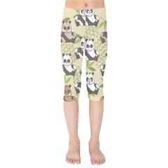 Fun Panda Pattern Kids  Capri Leggings