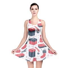 Christmas Gift Sketch Reversible Skater Dress