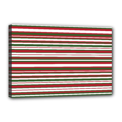 Christmas Stripes Pattern Canvas 18  X 12