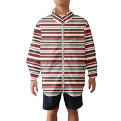 Christmas Stripes Pattern Wind Breaker (kids)