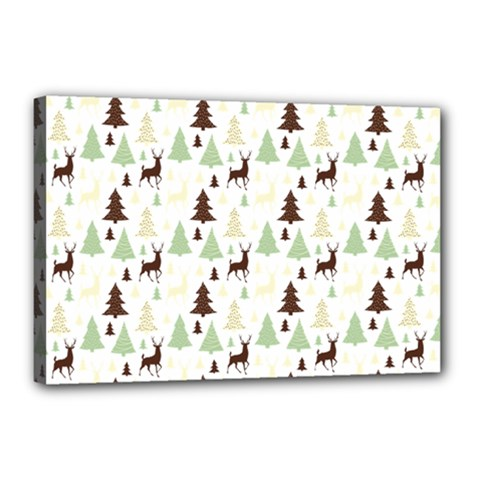 Reindeer Tree Forest Canvas 18  X 12