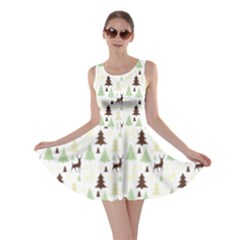 Reindeer Tree Forest Skater Dress