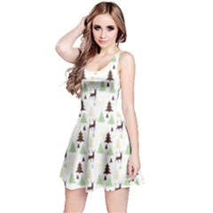 Reindeer Tree Forest Reversible Sleeveless Dress