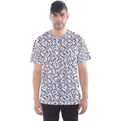 Wavy Intricate Seamless Pattern Design Men s Sports Mesh Tee