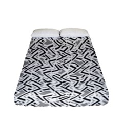 Wavy Intricate Seamless Pattern Design Fitted Sheet (full/ Double Size)