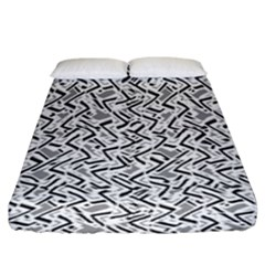 Wavy Intricate Seamless Pattern Design Fitted Sheet (king Size)