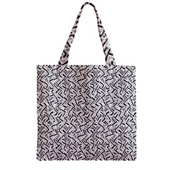 Wavy Intricate Seamless Pattern Design Zipper Grocery Tote Bag