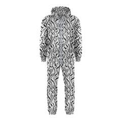 Wavy Intricate Seamless Pattern Design Hooded Jumpsuit (kids)