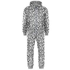 Wavy Intricate Seamless Pattern Design Hooded Jumpsuit (men)