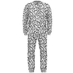 Wavy Intricate Seamless Pattern Design Onepiece Jumpsuit (men)
