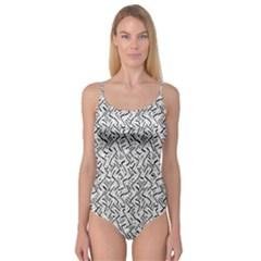 Wavy Intricate Seamless Pattern Design Camisole Leotard