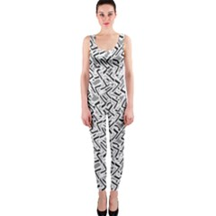 Wavy Intricate Seamless Pattern Design Onepiece Catsuit