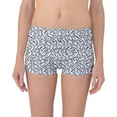 Wavy Intricate Seamless Pattern Design Boyleg Bikini Bottoms