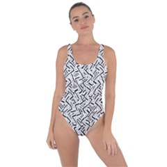 Wavy Intricate Seamless Pattern Design Bring Sexy Back Swimsuit