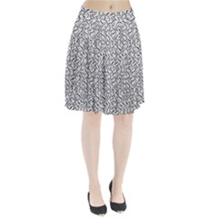 Wavy Intricate Seamless Pattern Design Pleated Skirt