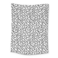 Wavy Intricate Seamless Pattern Design Medium Tapestry