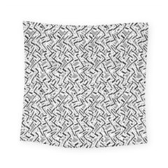 Wavy Intricate Seamless Pattern Design Square Tapestry (small)